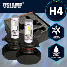 Oslamp LED H4 Car Bulbs 6500K All-in-one Hi-Lo Beam H4 LED Headlight Fan-less Auto Lamps SUV 50W 8000LM CSP Chips Plug-n-Play(China)
