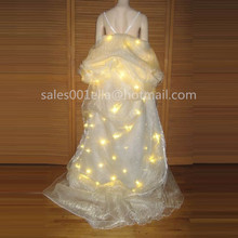 Led Luminous Wedding Dress LED Light Up Growing Party Christmas Evening Costume Stage Suit Clothes Wedding Decoration