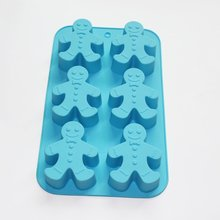 Gingerbread Man Soap Cookies Cupcake Muffin Siliocne Mold Xmas Gift