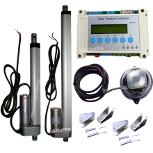 1KW DC 12V Complete Dual Axis Solar Tracker Tracking System Kits & Linear Actuator & Controller & Light Sensor & LCD Display