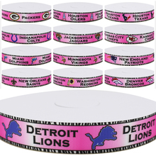 Dobro 13 Choices Pink Zebra Series 02 American Football Sport Team Printed Grosgrain Ribbons for Hair DIY Craft Party Decoration(China)