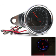 LED Motorcycle Tachometer DC 12V Universal Meter LED Backlight 13K RPM Shift For Honda Yamaha Suzuki Bobber Choppers Kawasaki(China)