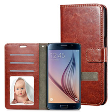 For Samsung Galaxy S6  active Case Wallet PU Leather Case Card Slot Flip Phone Cover Photo Frame For Samsung S6 active