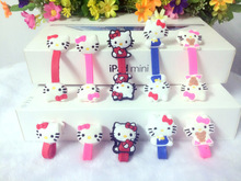 30pcs/lot Lovely Hello Kitty Cable Organizer Wire Wrap Headset Headphone Earphone Wrap Winder Cartoon Animal Cable Manager