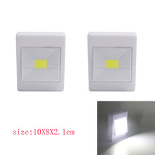 3PCS COB LED Switch night light Wall NightLight Lamp 3*AAA Battery Operated with Switch Magic Tape for children's room(China)