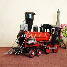 Vintage Head Model Iron Simulation Model Engine Crafts classic collection model  Metal Decoration Train Steam 7290