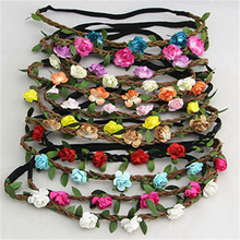 NIANA Hot Sale New Fashion Womens Bohemia Beach Flower Hair Bands Headband Hair Accessory 20 Colors Drop Shipping Headwear