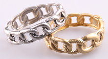 Free shipping new arrival wire drawing gold and silver plating links women cuff bangle Open Jewelry(China)