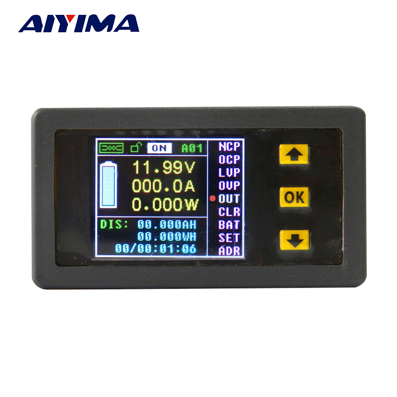 Multifunction Wireless Color LCD Voltage Current  Meter Capacity Electricity Meter Coulometer 0-120V 200A<br>