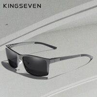 KINGSEVEN Alumínio De Design Da Marca Óculos Polarizados Homem Condução Tons  Cinza Quadrado Óculos De Sol 7260ef04b6