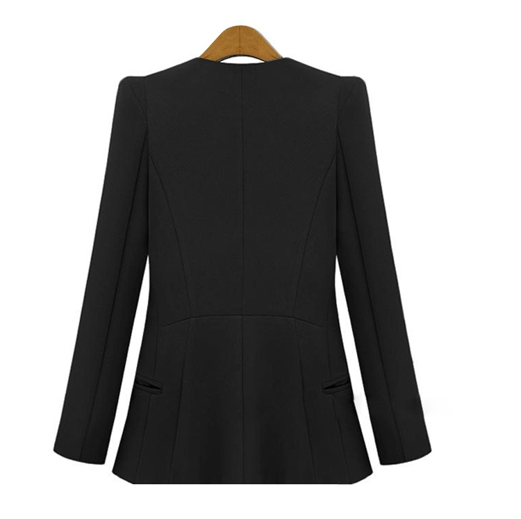 2017 Spring and Autumn Korean women\`s Slim was thin suits female jacket in the long paragraph leisure large size lady suit suit (8)