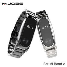 Buy Original Mijobs Metal Strap Xiaomi Mi Band 2 Straps Screwless Stainless Steel Bracelet Replace Accessories Mi Band 2 for $10.85 in AliExpress store