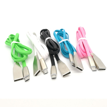 Zinc alloy diamond shaped Noodle 2.1A Micro USB Cable Charger Data Sync USB Cord Wire For Samsung Xiaomi