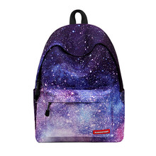 2017 hot Multicolor Women Canvas Backpack Stylish Galaxy Star Universe Space Backpack Girls School Backbag Mochila Feminina