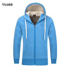 2016 winter new thickening fleece winter jacket famous brand high quality men jacket coat zipper cashmere hoodies man sky blue(China)