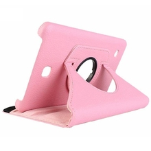 Cases For Samsung Galaxy Tab 4 Tablet SM-T230 SM-T231 360 degree Rotation Housing (pink)
