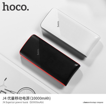 HOCO Ultra Thin J4 10000mAh Power Bank Portable Dual USB 5V2.1 Quick Charger External Back up Battery for iPhone X 6 7 8 Redmi(China)