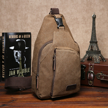 2015 Summer Men's Small Canvas Sling Messenger Shoulder Bag Chest Pack  Fashion Bag