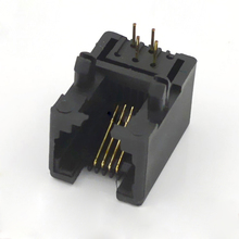 10pcs 95001-6p4c RJ Connector Black Plastic Telecommunications Line Socket For Telephone Socket Interface(China)