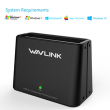 "Wavlink Universal Hard Drive HDD Docking Station for 2.5""3.5""Supports SATA I/II/III(6Gbps)USB 3.1 Type-C SATA DC w/ Windows XP 7"