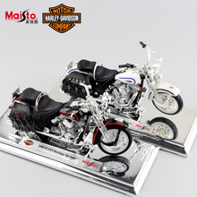 1:18 Scale kids Harley 1997 FLHR Heritage Springer Diecast metal model motorcycle Cruiser mini moto racing auto toys for boys