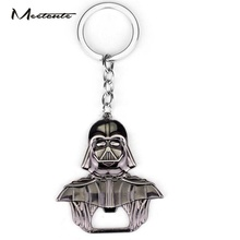 Meetcute New Style Design Star Wars Darth Vader Keychain Bottle Opener Alloy Key Rings Key Chain Trinkets for Fans