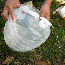 10L Applicable Water Bucket Hiking Fishing Picnic Handy Collapsible Foldable Water Bottle Container Camping Travel Kit Water Bag