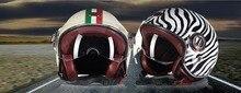 Netherland BEON fashion vintage Harley style motorcycle helmet summer half face motorbike helmets made Fiberglass black white