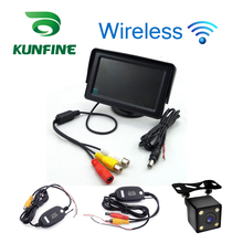 Car Styling Wireless 4.3 inch TFT LCD Screen Car Monitor Display for Rearview Reverse Backup Camera Car TV Display Wifi
