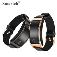 Smartch CK11S Bluetooth Smart Wristband,Fitness Tracker Pedometer Vibration Alarm Bracelet Heart Rate Blood Pressure Monitor