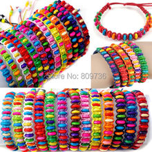 6pcs/lot Wholesale Braided Hemp Summertime Wish Bracelet  Anklet with Beads Fashion Charm Bracelet for women Gift Drop Free