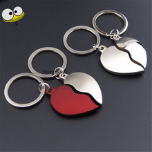 Car Accessories Creative Broken-hearted Key Ring Heart-shaped Heart Keychain For Volkswagen Volvo Corolla RAV4 Peugeot Lexus BMW(China)