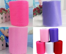 1 x White / Red / Pink / Purple Hard Tulle Craft Wedding Party Decoration Sheer Gauze Mesh Table Runner Wedding Car Decoration