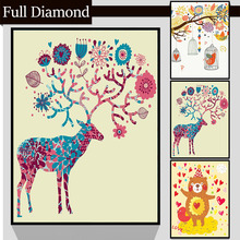 Cartoon illustration DIY Full Resin Round Diamond Painting Square Mosaics Cross Stitch Embroidery Stones Painting Craft gift