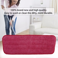 Replacement Microfiber Washable Mophead Wet and Dry Cleaning Mop Pads Fit Flat Spray Mops Household Cleaning Tools 3 Colors