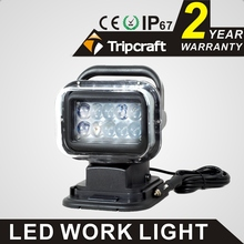 50W 7INCH LED WORK LIGHT SPOTLIGHT WIRELESS HID LED HIGH SEARCH LIGHT FOR BOAT MARINE 4x4 OFF ROAD USE HEADLIGHT