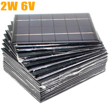 20pcs/lot 6V 330mA 2W Mini Solar Panels Small Solar Power 3.6v Battery Charge Solar Led Light Solar Cell Drop Shipping-10001025(China)