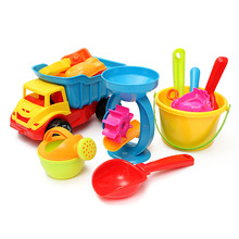Beach Sand Play Toys Set 21pcs/set Bucket Rakes Sand Wheel Watering Sand Play Bath Toys For Children Learning Study Toys