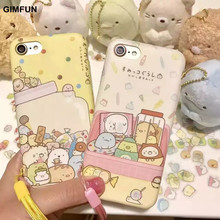 Gimfun Kawaii Cartoon Candy Little Animals Phone Case for IphoneX 8 8plus 6 6s 6plus 7 7plus yellow Painting Tpu Back Cover Case(China)