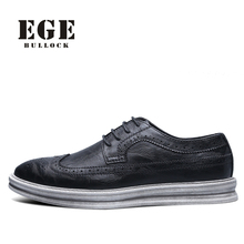 Buy Men Casual Shoes New Arrival Genuine Leather Brand Male Flats British Style Lace-up EGE Brand Autumn Shoes Men for $43.17 in AliExpress store