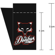 Custom shop logo Damask cloth center fold Black woven label bag 50 mm * 30 mm(China)