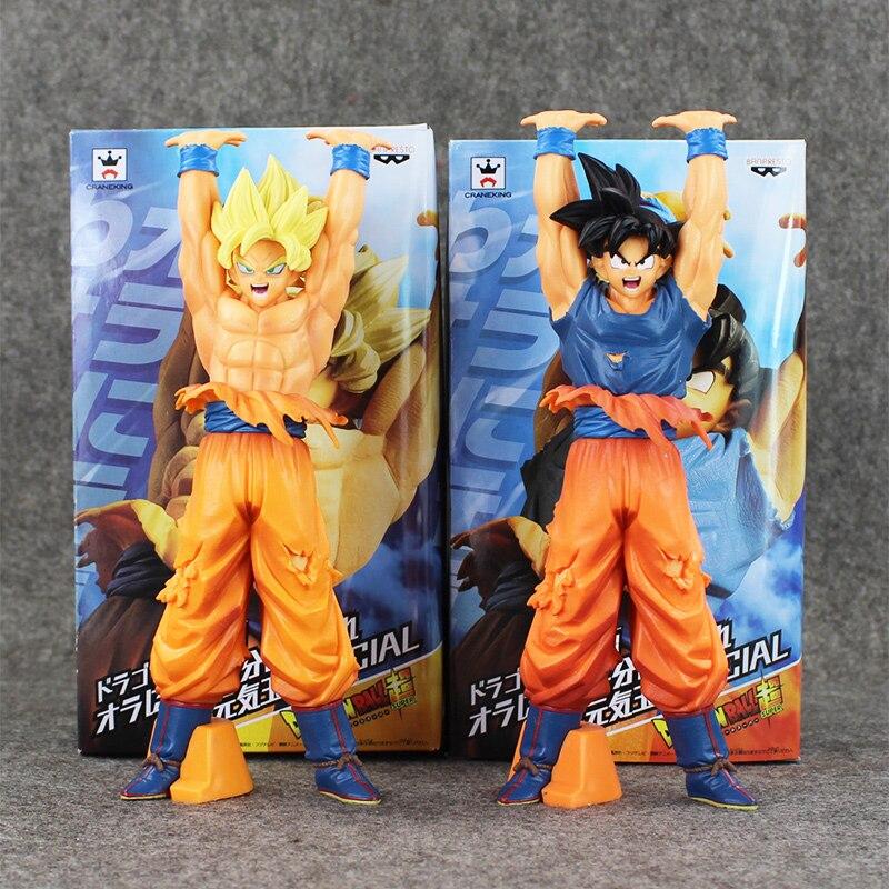2Pcs/Lot Dragon Ball Z Super Saiyan A B Son Gokou PVC Figure Toy Special Model Dolls 13.5cm 2 Styles<br><br>Aliexpress
