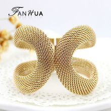 Cuff Bracelets Gold-Color Silver Color Pulseiras Femininas Wide Big Bangles Hot Sale Bijoux For Women
