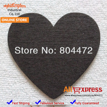100 x Mini Chalkboard wholesale Wooden Hearts with Jute twine For craft project - Without a hole heart wood 6cm