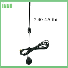 1PCS Wifi Antenna 2.4G 4.5dbi hing gain Sucker antenna 3 meters extension cable SMA MALE connector NEW Wholesale wi-fi router(China)