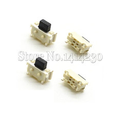 100Pcs SMT 2X4X3.5MM 2*4*3.5mm Mini Tactile Tact Push Button Micro Switch Momentary MP3 MP4 MP5 Tablet PC Power Micro Switch(China)