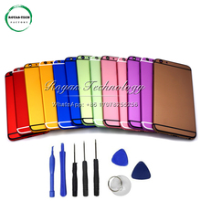 5 PCS/Lot New! 100% Perfect Quality Replacement Back Cover Middle Frame Battery Door for iphone 6 Housing Chassis Colorful +Tool