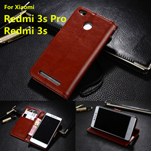 Xiaomi Redmi 3s 3x card holder cover case for Xiaomi Redmi 3s Pro Prime Pu leather phone case wallet flip cover(China)