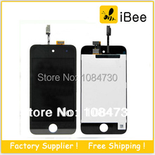 20pcs/lot LCD Display Touch Screen with digitizer Assembly For iPod Touch 4 4th gen , Free Shipping By DHL