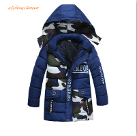 2017 New Baby Boys Winter Coat,Baby Boys Cotton Fashion camouflage Winter Jacket Outwear,Kids Warm Cotton Padded Coat(China)